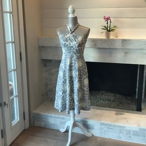 J. Crew Cotton Floral Halter Dress EUC!